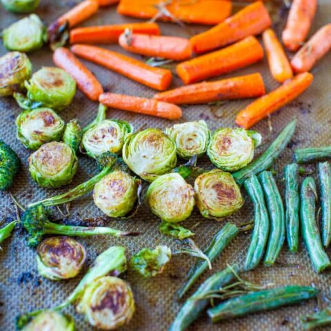 Lemon Rosemary Coconut Oil Roasted Vegetables