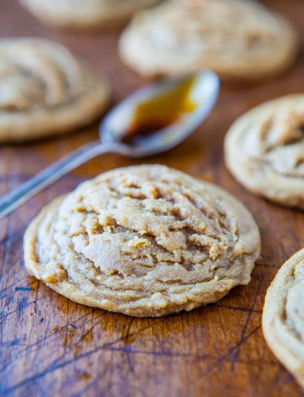 Soft Batch Dark Brown Sugar Coconut Oil Cookies averiecooks.com