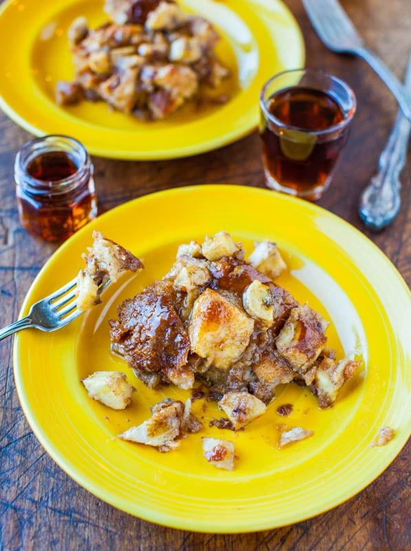Hawaiian Bread and Maple Banana Baked French Toast averiecooks.com