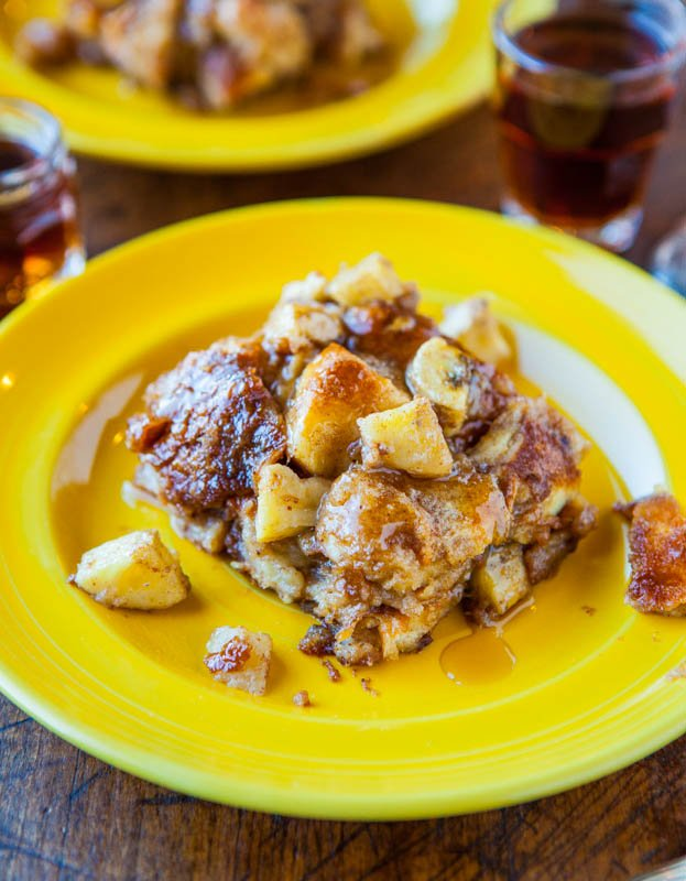 Hawaiian Bread and Maple Banana Baked French Toast averiecooks.com