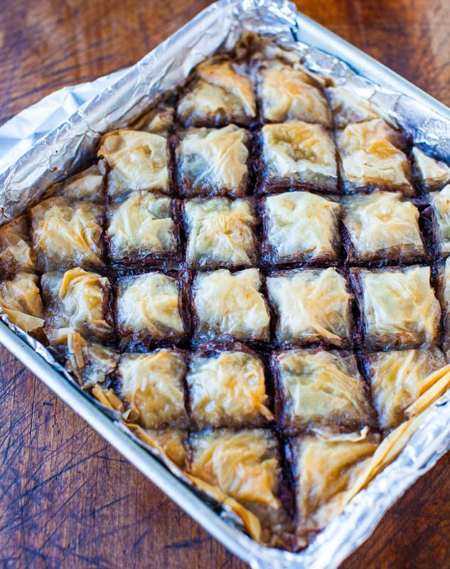 Nutella Chocolate Chip Baklava averiecooks.com
