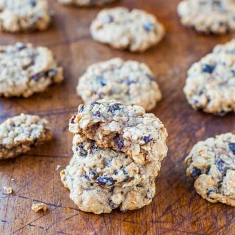 Thick and Chewy Oatmeal Raisin Cookies