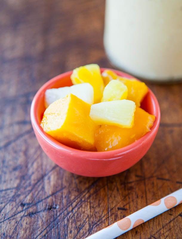 Pineapple Mango Vitamin C Booster Smoothie (vegan, GF) averiecooks.com
