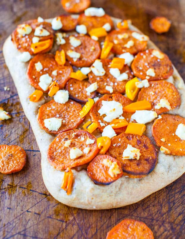 Roasted Sweet Potato and Goat Cheese Pizza
