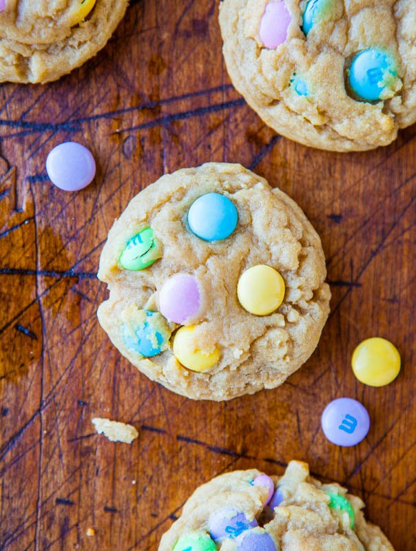 Soft and Chewy M&Ms Cookies averiecooks.com