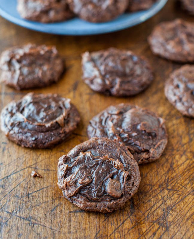 Soft and Chewy Brownie Cookies (from scratch, no mix) averiecooks.com