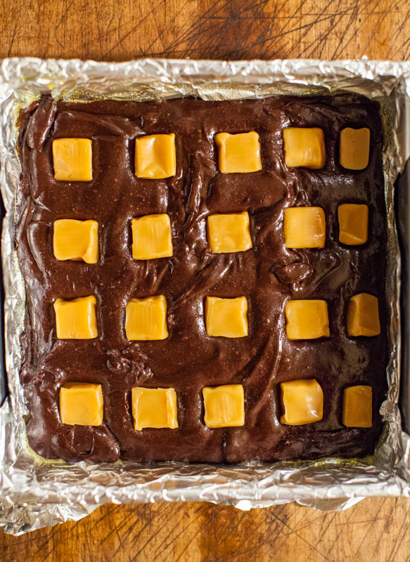 The Ultimate Fudgy Caramel Brownies averiecooks.com