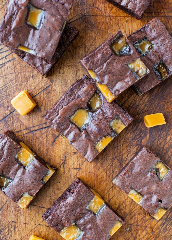 The Ultimate Fudgy Caramel Brownies averiecooks.com