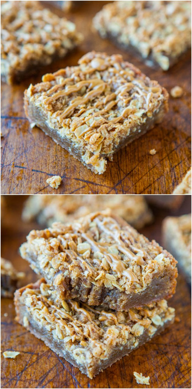 Cookie Butter Brown Sugar Streusel Bars - Have Cookie Butter/Biscoff you don't know what to do with? Make these brown sugar, buttery, streusel-topped easy one bowl-bars!