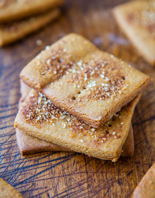 Homemade Cinnamon Sugar Graham Crackers