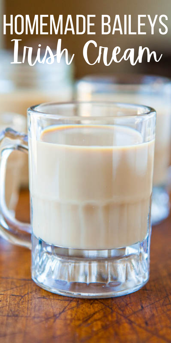 Homemade Baileys Irish Cream— Homemade Baileys Irish Cream comes together 1 minute, with ingredients you likely already have on hand. Rich, creamy, and the flavor is a dead ringer for store-bought!