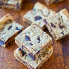 Peanut Butter Chocolate Chunk Cookie Bars averiecooks.com