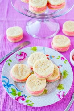 Buttery Sugar Wafer Sandwich Cookies
