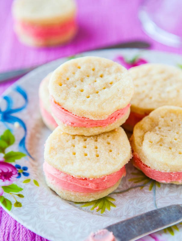 Buttery Sugar Wafer Sandwich Cookies