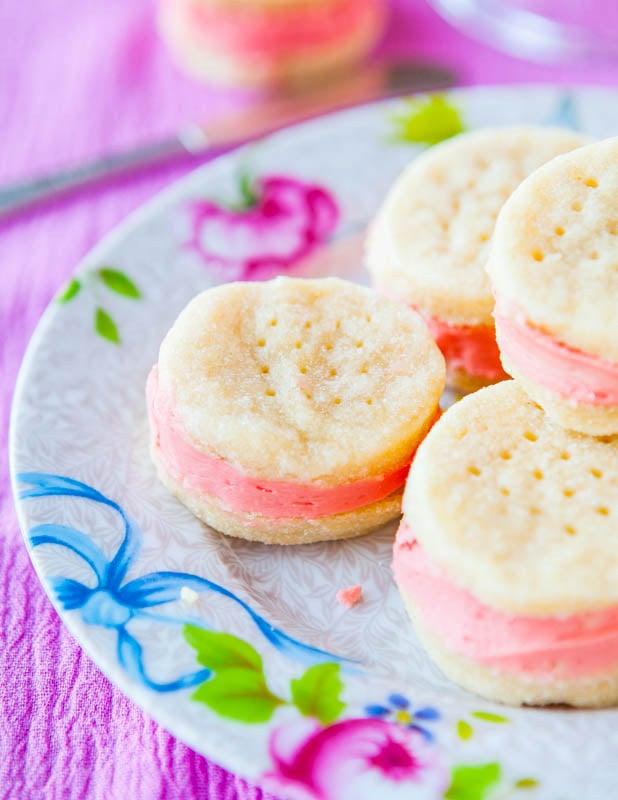 Buttery Sugar Wafer Sandwich Cookies averiecooks.com