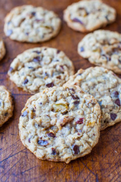Slice-and-Bake Oatmeal Raisin Chocolate Chip Cookies