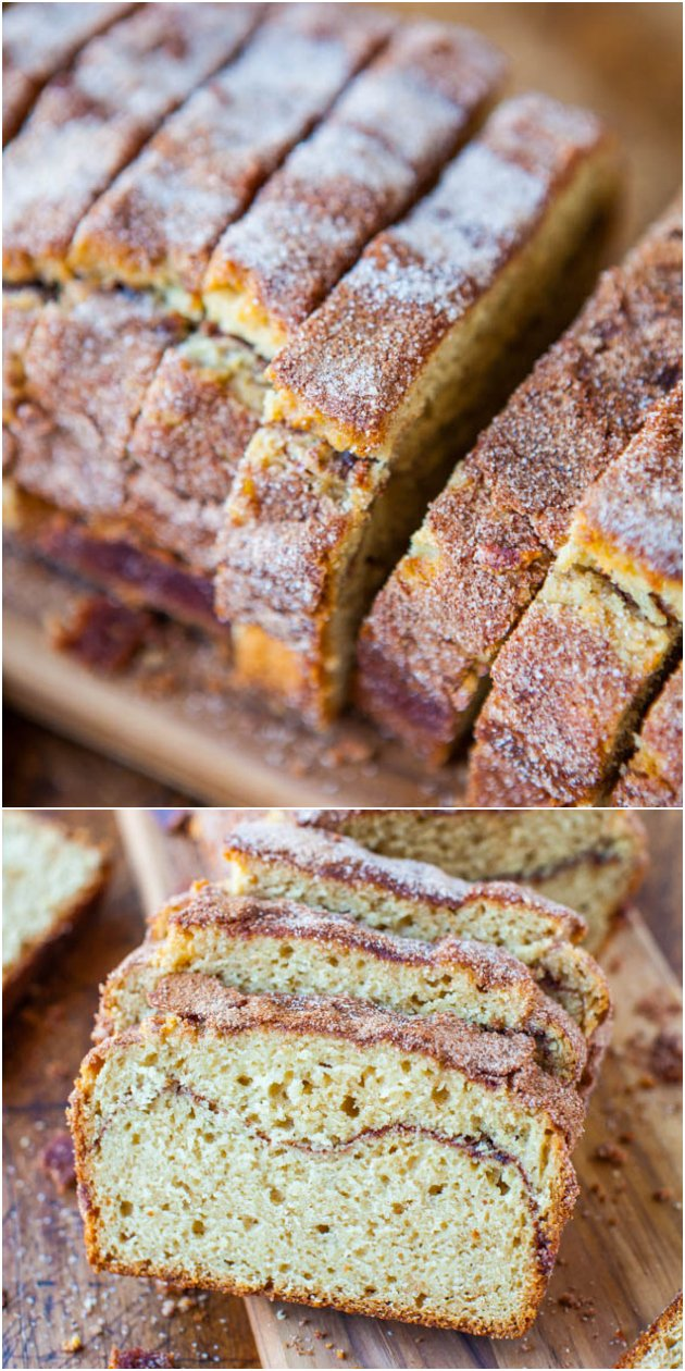 Cinnamon-Sugar Crust Cinnamon-Ribbon Bread - Even picky eaters who want the crust cut off will go nuts for this sweet, slightly crunchy crust. The interior is so soft & fluffy!