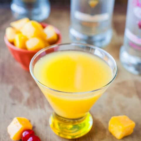 Mango Coconut Water Tropical Martini