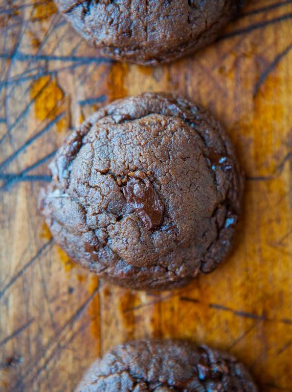 Nutella Peanut Butter Chocolate Chunk Cookies averiecooks.com