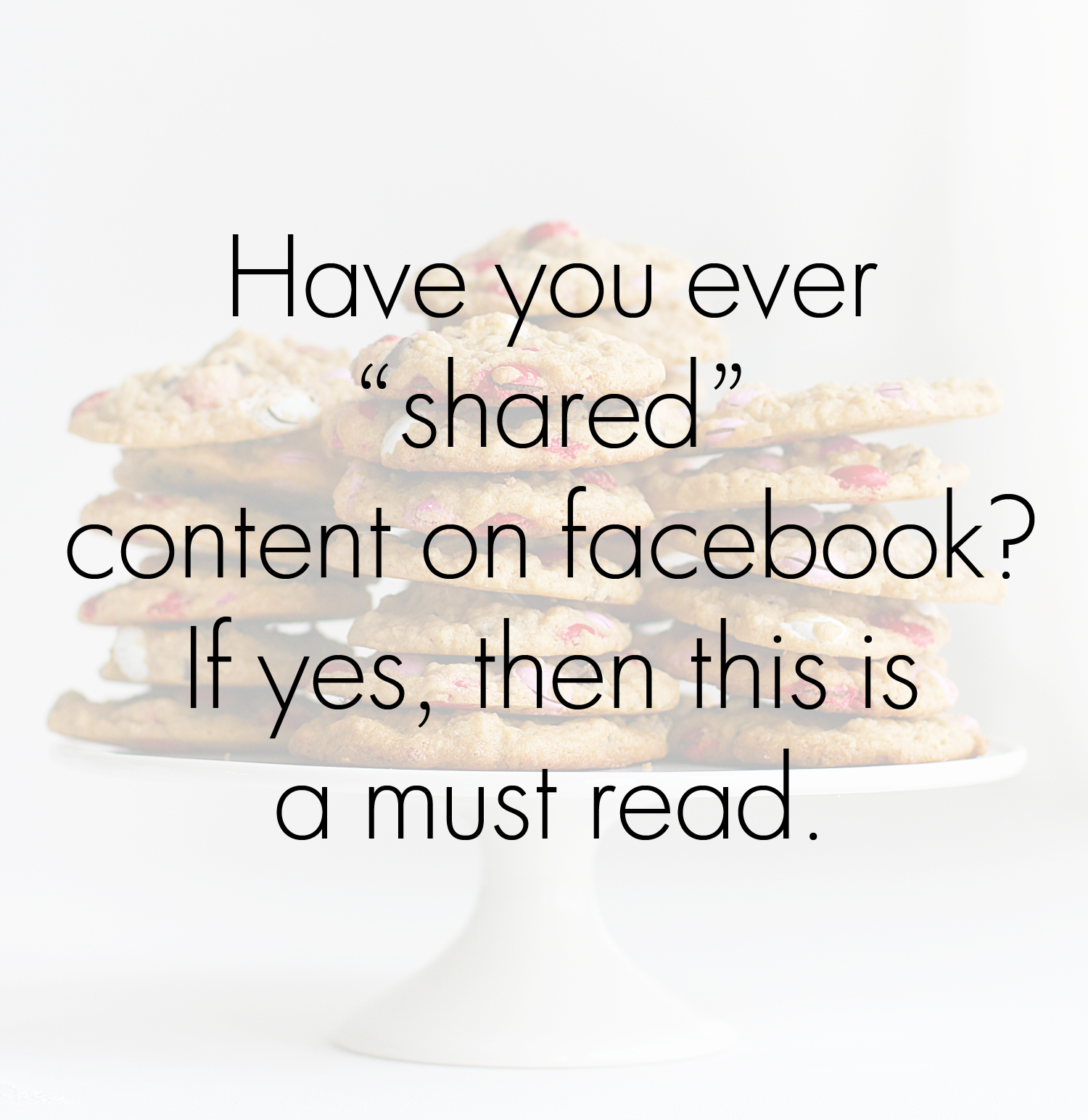 Meme on sharing Facebook content
