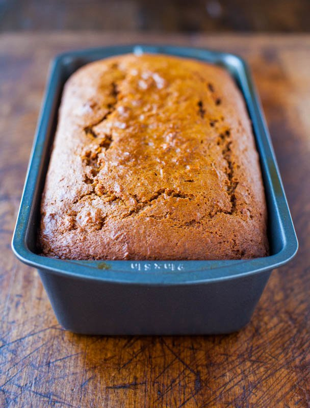 Cinnamon and Spice Sweet Potato Bread averiecooks.com
