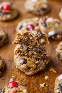 Trail Mix Peanut Butter Cookies