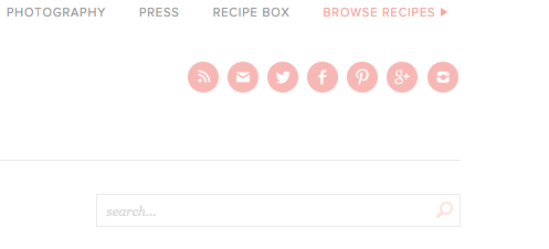 Search bar for averie's website
