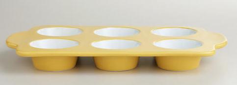 Yellow muffin tin