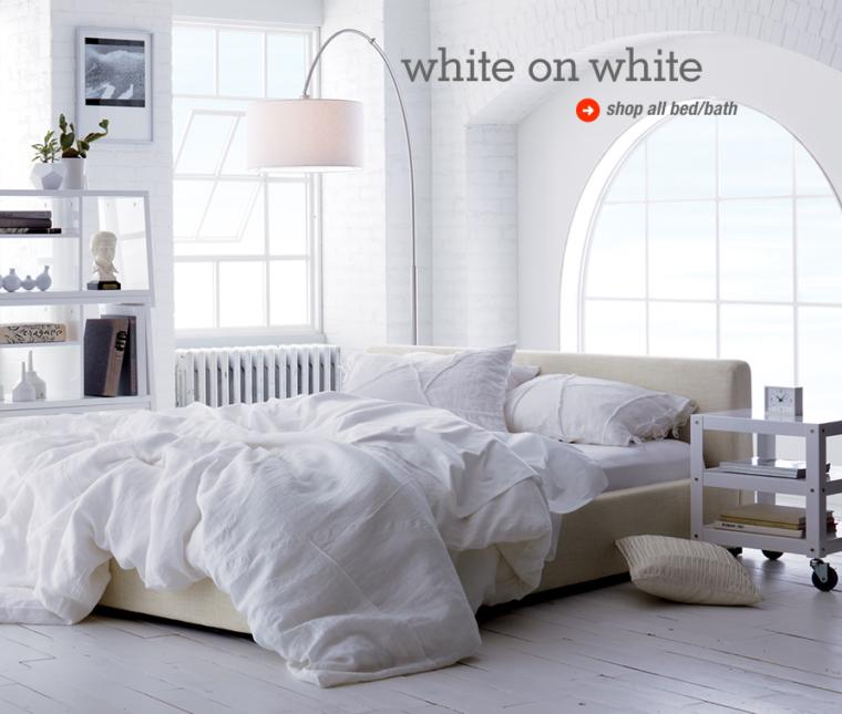 White bedroom from CB2