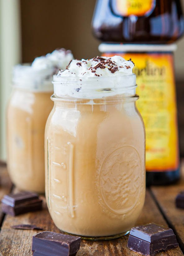Creamy Boozy Iced Coffee - Jazz up your usual iced coffee & try this smooth & creamy version! So good & very refreshing!