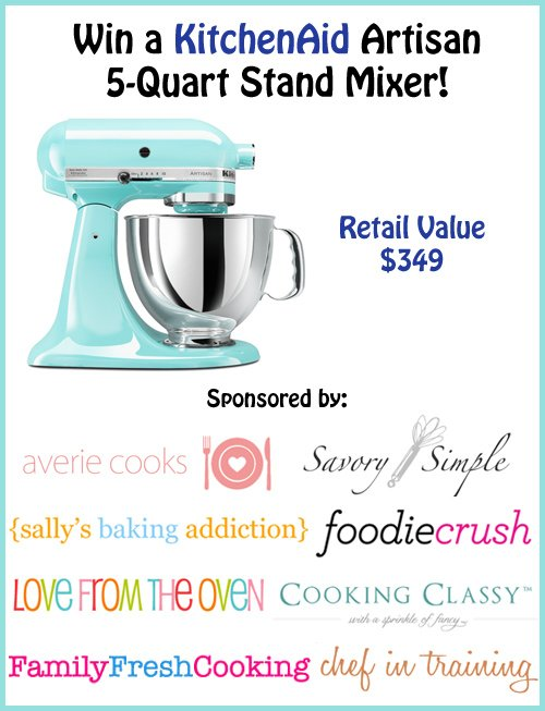 KitchenAid Stand Mixer Giveaway! averiecooks.com