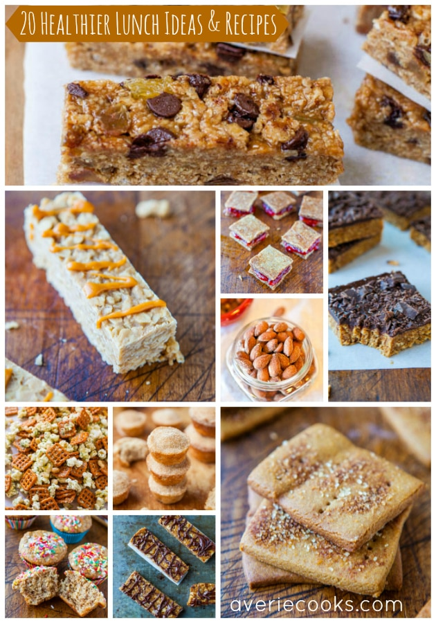 20 Healthier Lunch and Snack Ideas and Recipes pic collage