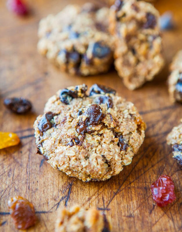 Chocolate Chip Healthy Oatmeal Cookies — These are without a doubt the healthiest cookies I've ever made. And some of the fastest and easiest. And they taste SO GOOD, making them the most miraculous.