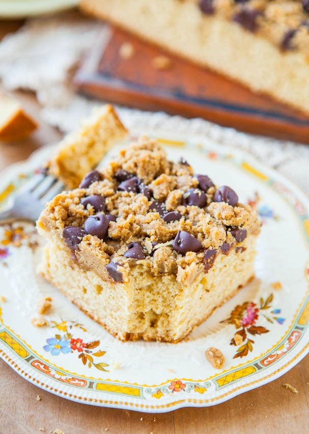Peanut Butter Honey Buttermilk Cake with Chocolate-Peanut Butter Streusel averiecooks.com