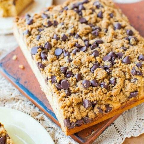 Peanut Butter Honey Buttermilk Cake with Chocolate-Peanut Butter Streusel