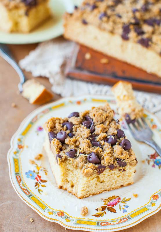 Peanut Butter Honey Buttermilk Cake with Chocolate-Peanut Butter Streusel averiecooks.com