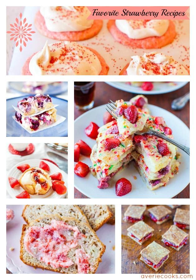 Favorite Strawberry Recipes averiecooks.com
