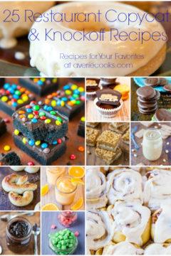 25 Restaurant Copycat Recipes and CopyKat Cookbook Giveaway