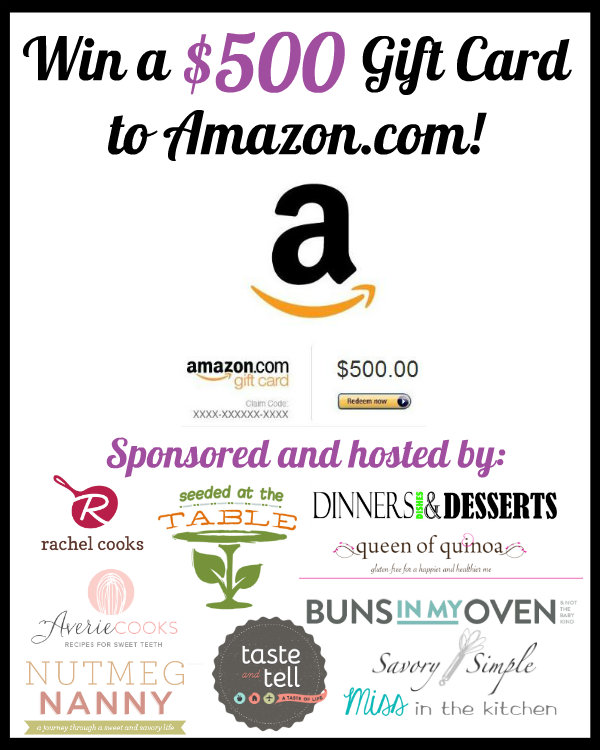 Win a $500 Amazon Gift Card - Enter at averiecooks.com