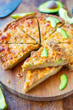 30-Minute Cheesy Avocado Skillet Pizza Bread
