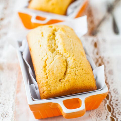 Glazed Mini Pound Cake Loaves