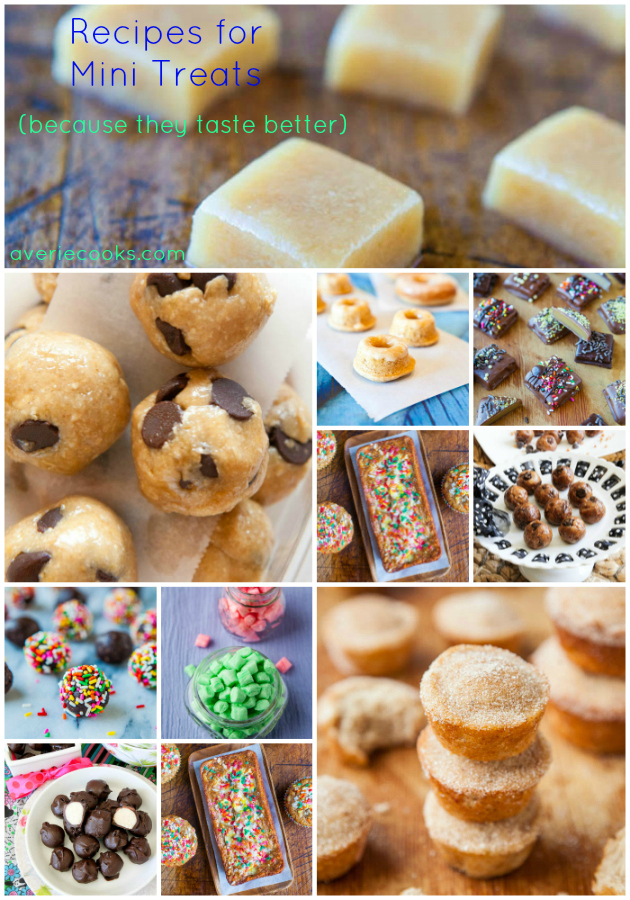 Recipes for Mini Treats at averiecooks.com