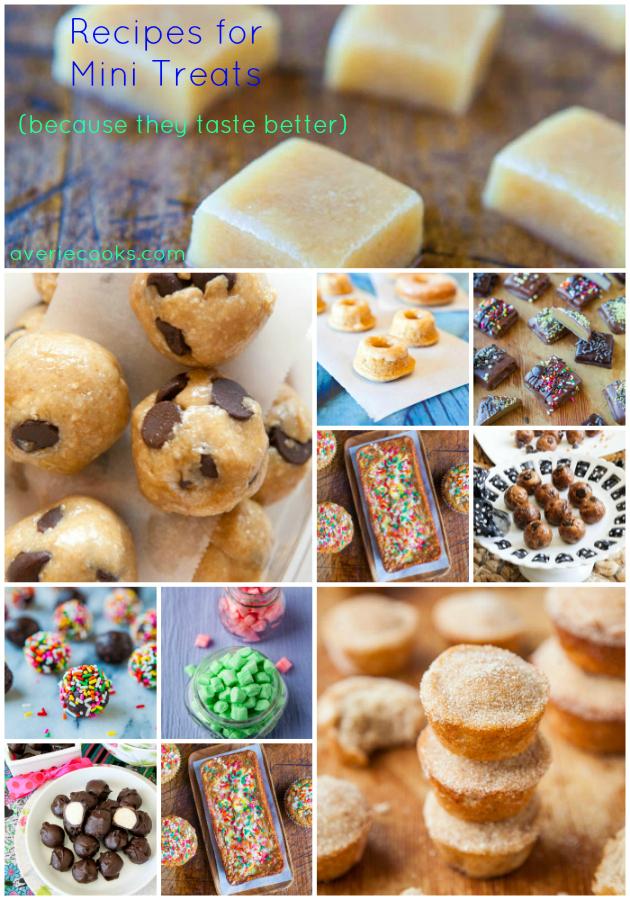 Recipes for Mini Treats at averiecooks.com