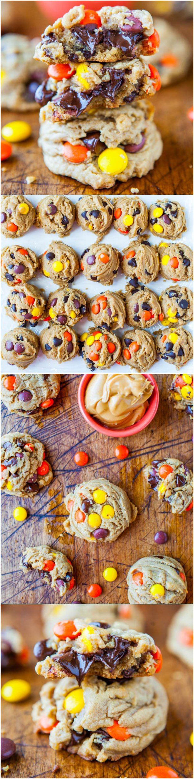 Peanut Butter Reese's Pieces Cookies— These Reese's Pieces cookies are are LOADED with Reese's Pieces and oozing, melted chocolate chips. Perfect any time of year!