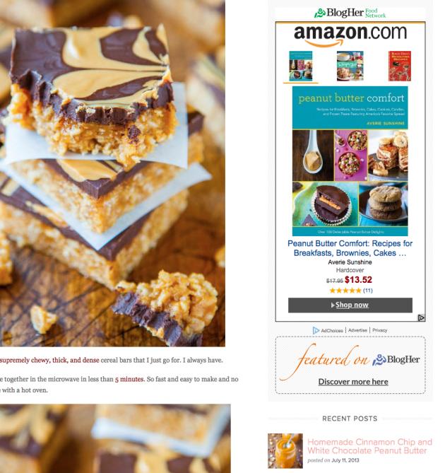 Amazon ad of Peanut Butter Comfort book