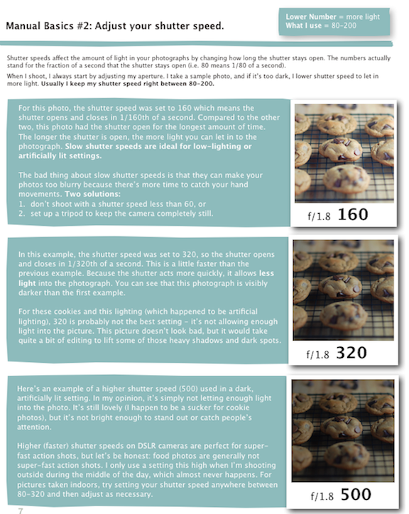 Camera tips for food blogging
