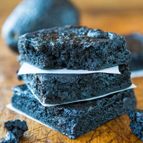 Healthy Dark Fudgy Avocado Brownies