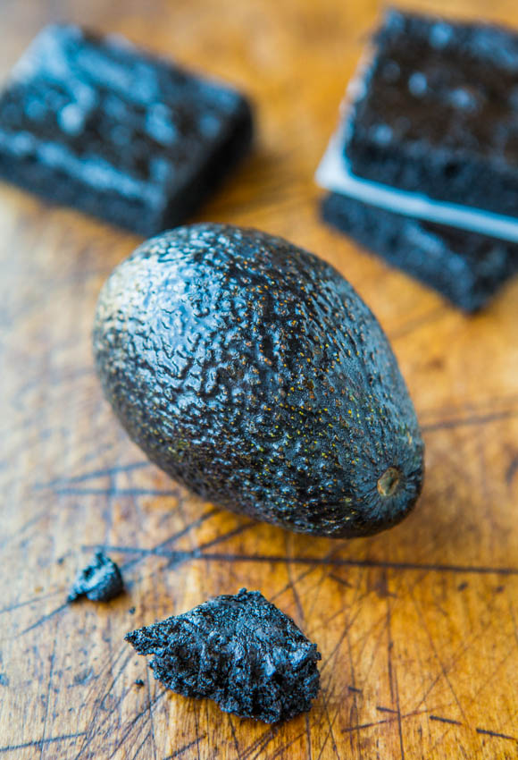 Healthy Dark Fudgy Avocado Brownies (GF)- You Can't Taste the Avocado in These Healthier Brownies at averiecooks.com