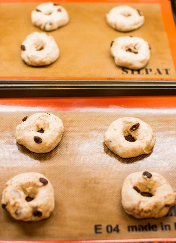 Easy Homemade Cinnamon Raisin Bagels - Recipe at averiecooks.com
