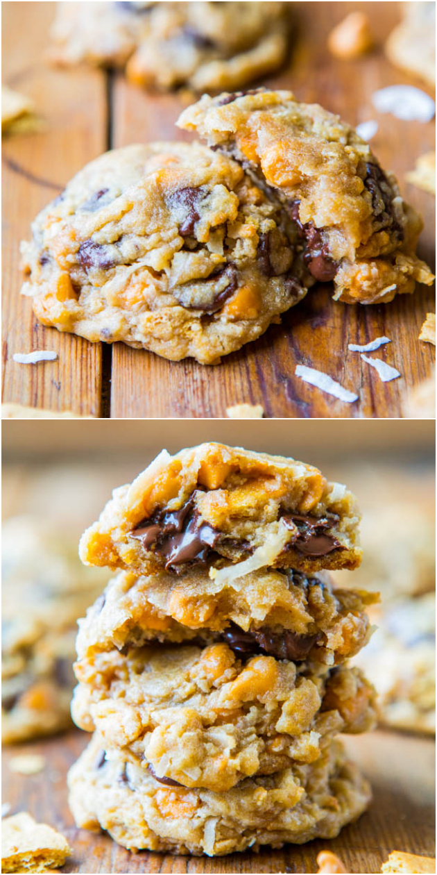 Soft and Chewy Seven Layer Magic Bar Cookies - All the ingredients in ...